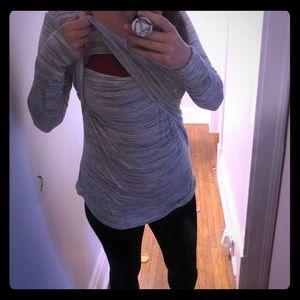 Motherhood Maternity Tops - Motherhood maternity nursing top/sweater